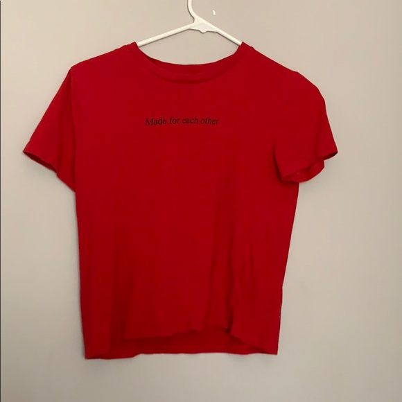 Divided Tops - Red T-Shirt